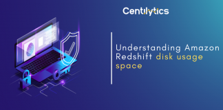 AWS Redshift disk usage space