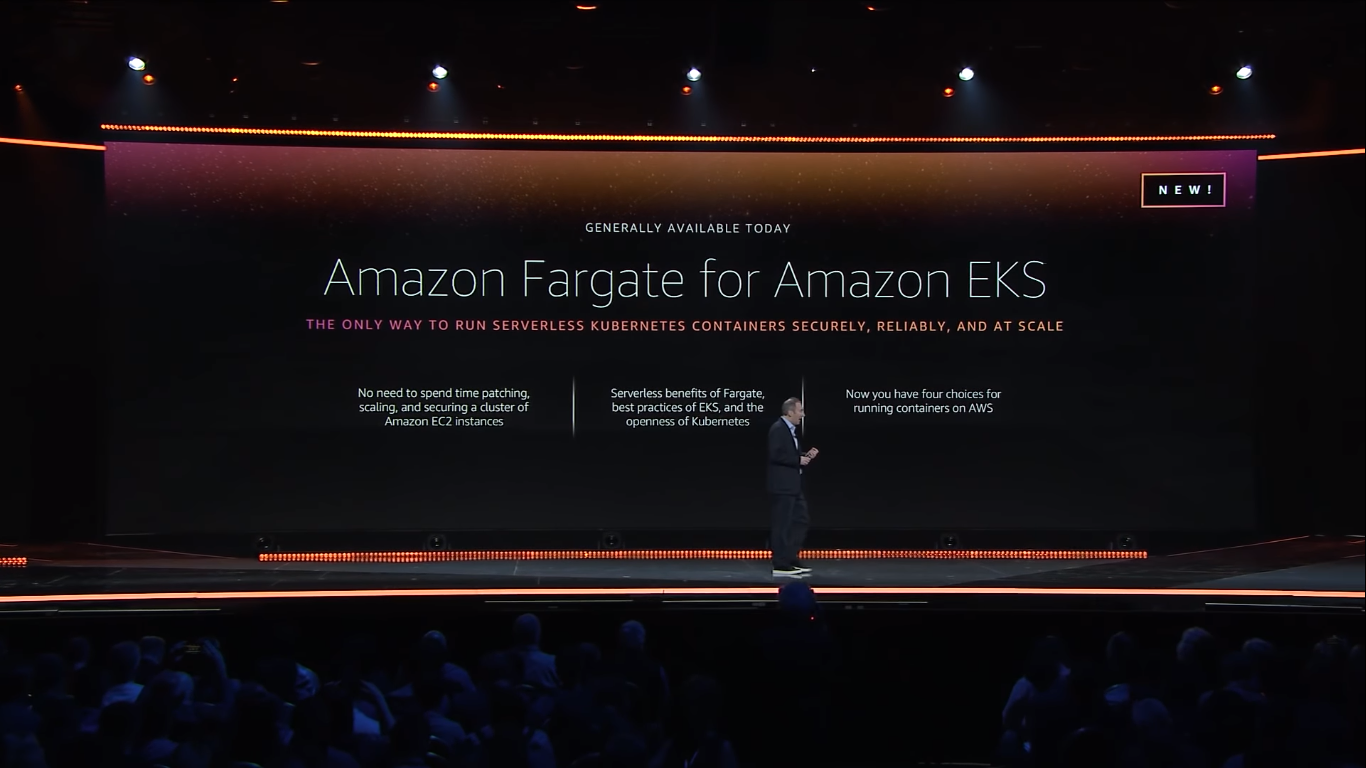 aws announced amazon fargate for eks