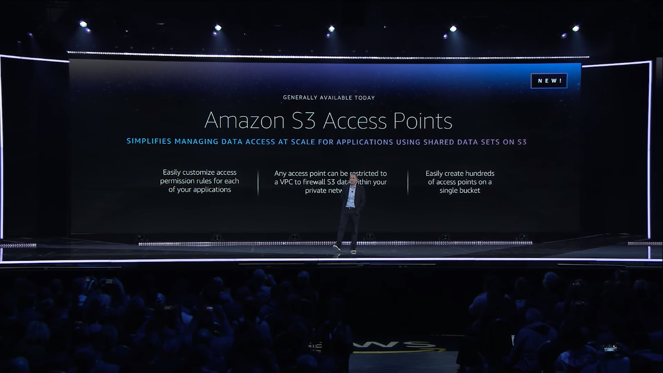 andy jassy announced amazon s3 access points