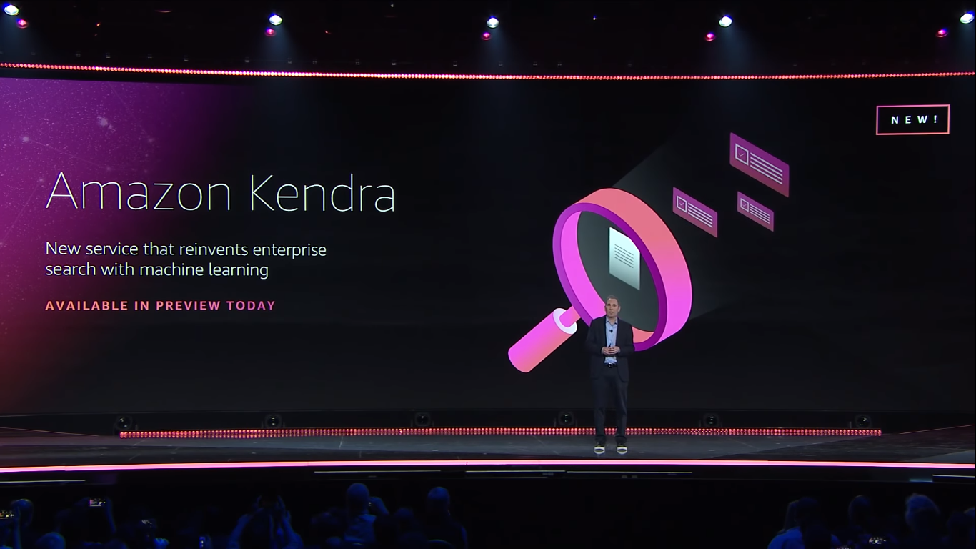 AWS announced Amazon Kendra
